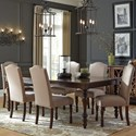 Signature Design by Ashley Baxenburg 5-Piece Dining Room Extension Table Set - Additional Chairs Sold Separately