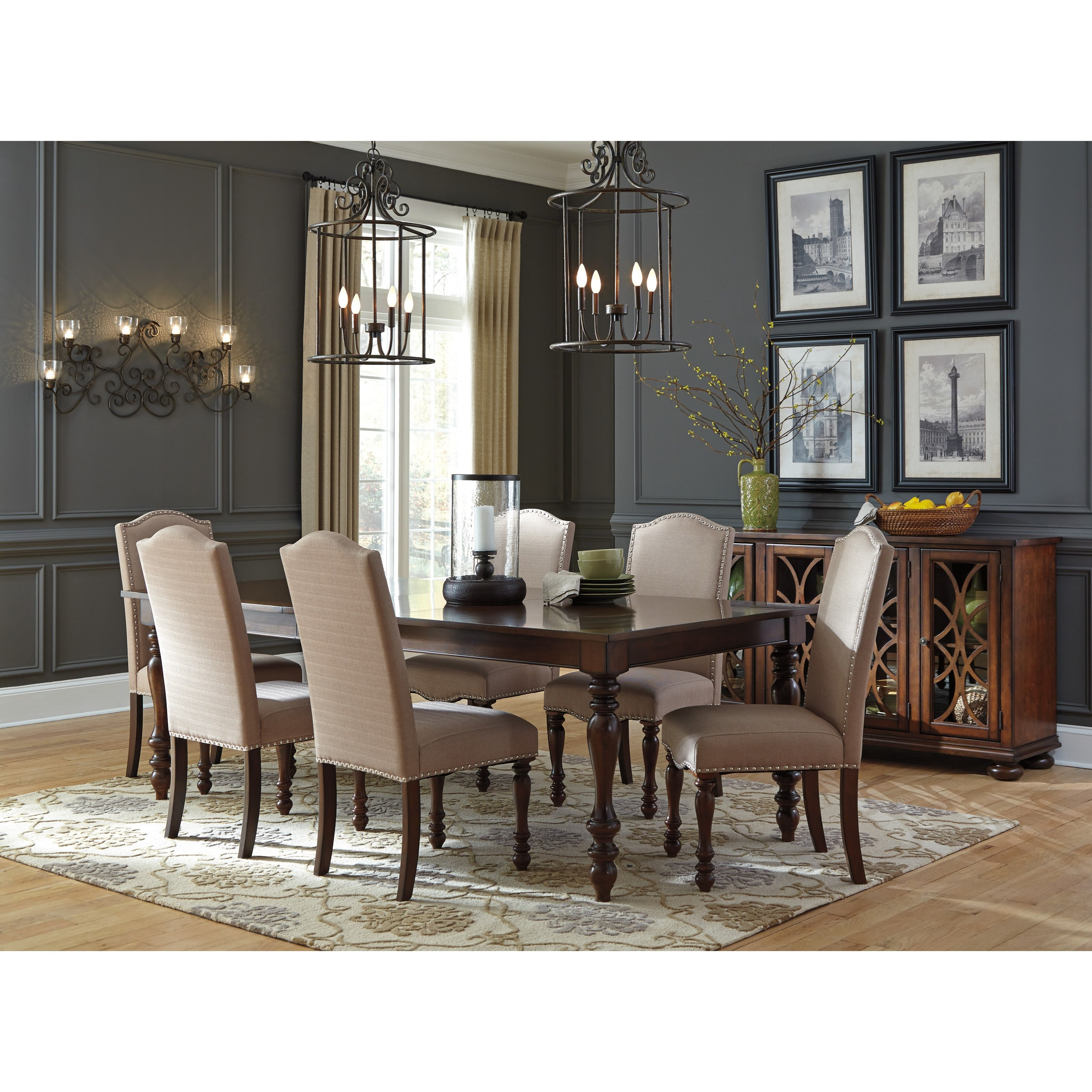 Ashley signature design baxenburg 7 piece dining room for 7 piece dining room set