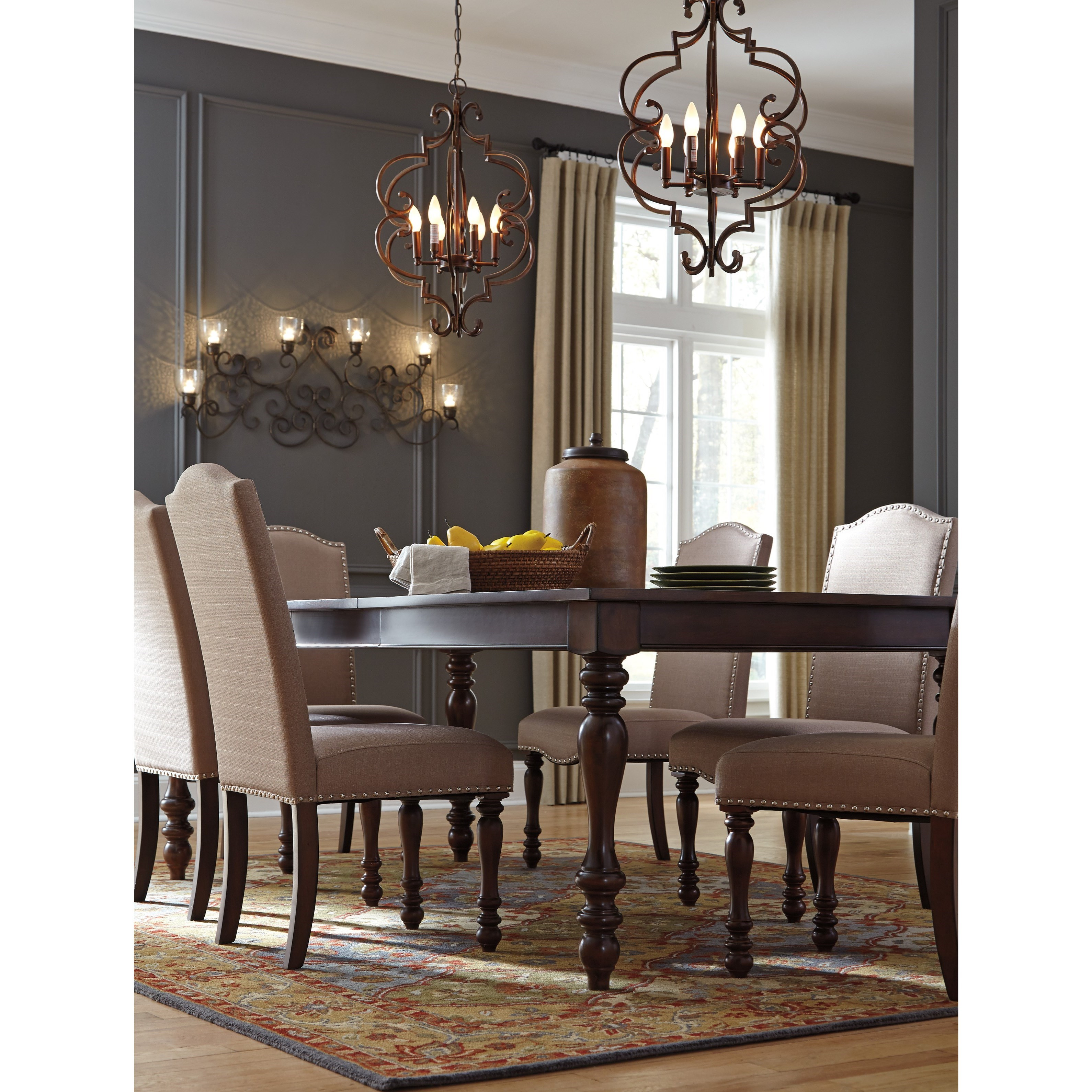 dining room tables with extensions signature design baxenburg d506 35 traditional 8706