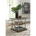 Signature Design by Ashley Baymore Wood and Metal Rectangular End Table with 2 Shelves