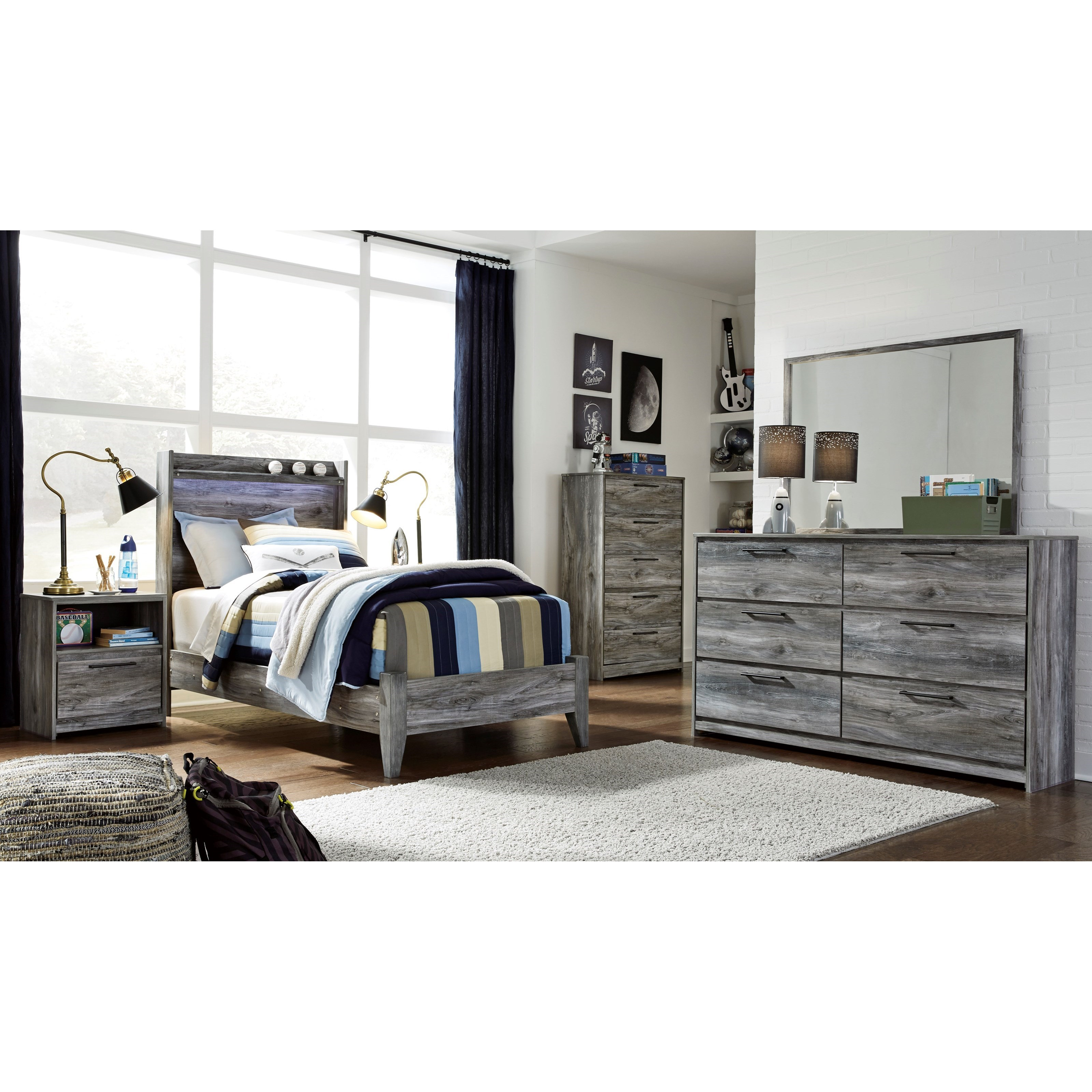 Baystorm Twin Bedroom Group by Signature Design by Ashley at Sparks HomeStore
