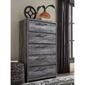 Signature Design by Ashley Baystorm Contemporary 5 Drawer Chest of Drawers