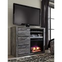 Signature Design by Ashley Baystorm Contemporary Media Chest with Fireplace Insert
