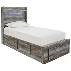 Twin Storage Bed with 5 Drawers