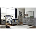 Signature Design by Ashley Baystorm Twin Panel Bed with Dimming LED Light