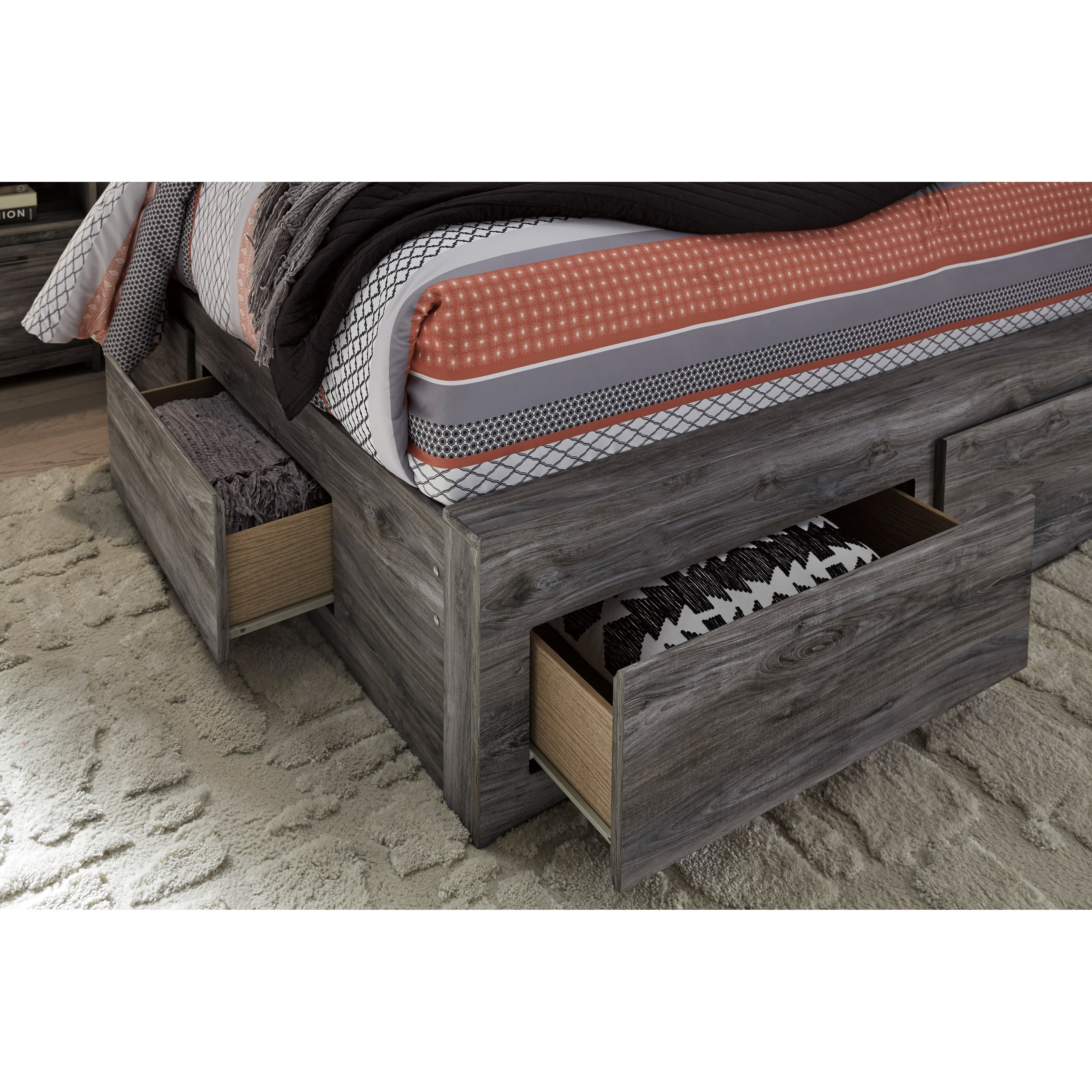 Baystorm Full Size Storage Bed B221: Ashley Signature Design Baystorm Queen Storage Bed With 6