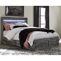 Signature Design by Ashley Baystorm Queen Storage Bed with 6 Drawers - Item Number: B221-57+54S+2x60+B100-13