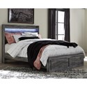 Signature Design by Ashley Baystorm Queen Panel Bed with Storage Footboard - Item Number: B221-57+54S+95+B100-13