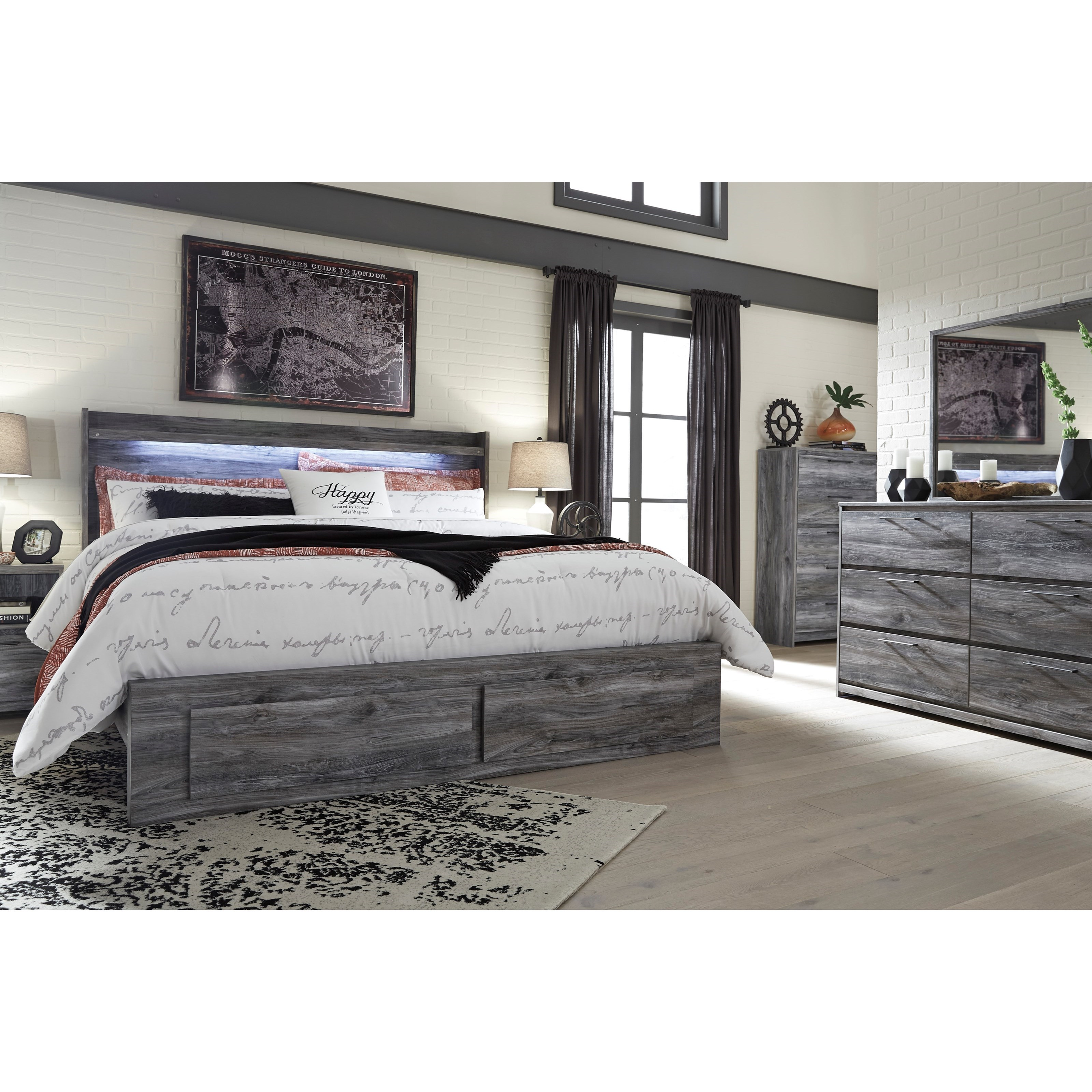 Sofa King To Ol: Signature Design By Ashley Baystorm King Panel Bed With