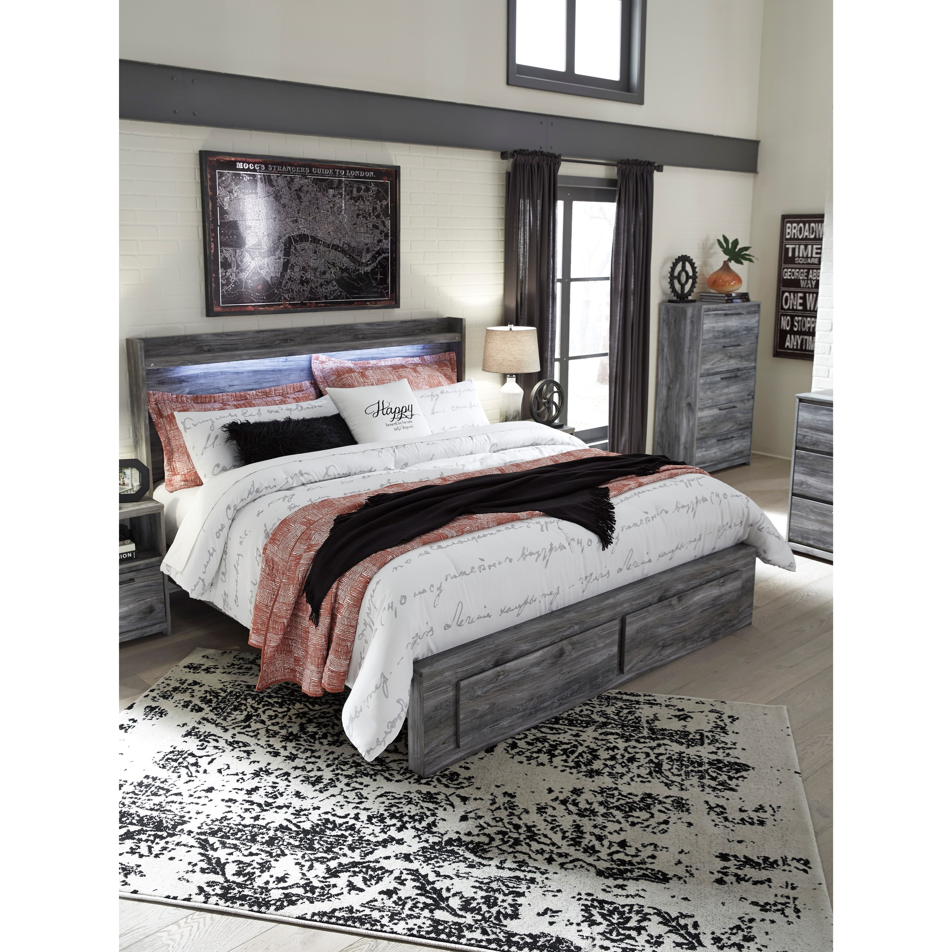 Ashley Furniture 14 Piece Package: Signature Design By Ashley Baystorm King Panel Bed With