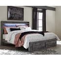 Signature Design by Ashley Baystorm King Panel Bed with Storage Footboard - Item Number: B221-58+56S+95+B100-14