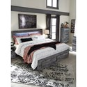 Signature Design by Ashley Baystorm King Panel Bed with Storage Footboard & Dimming LED Light