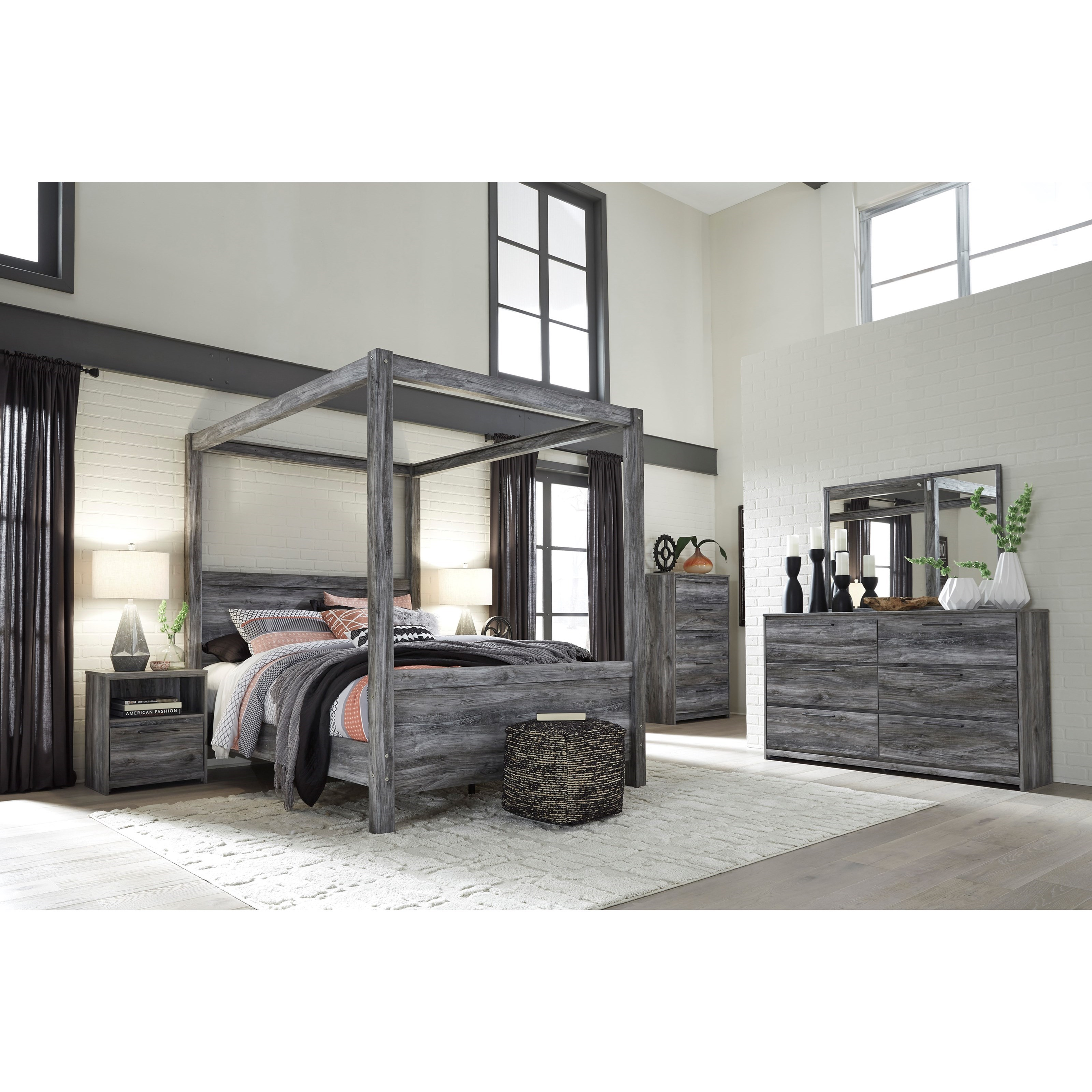Baystorm Full Size Storage Bed B221: Signature Design By Ashley Baystorm Queen Canopy Bed In