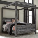 Signature Design by Ashley Baystorm Queen Canopy Bed - Item Number: B221-71+61+98