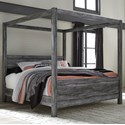 Signature Design by Ashley Baystorm King Canopy Bed - Item Number: B221-72+62+99