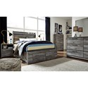 Signature Design by Ashley Baystorm Full Storage Bed with 6 Drawers & Dimming LED Light