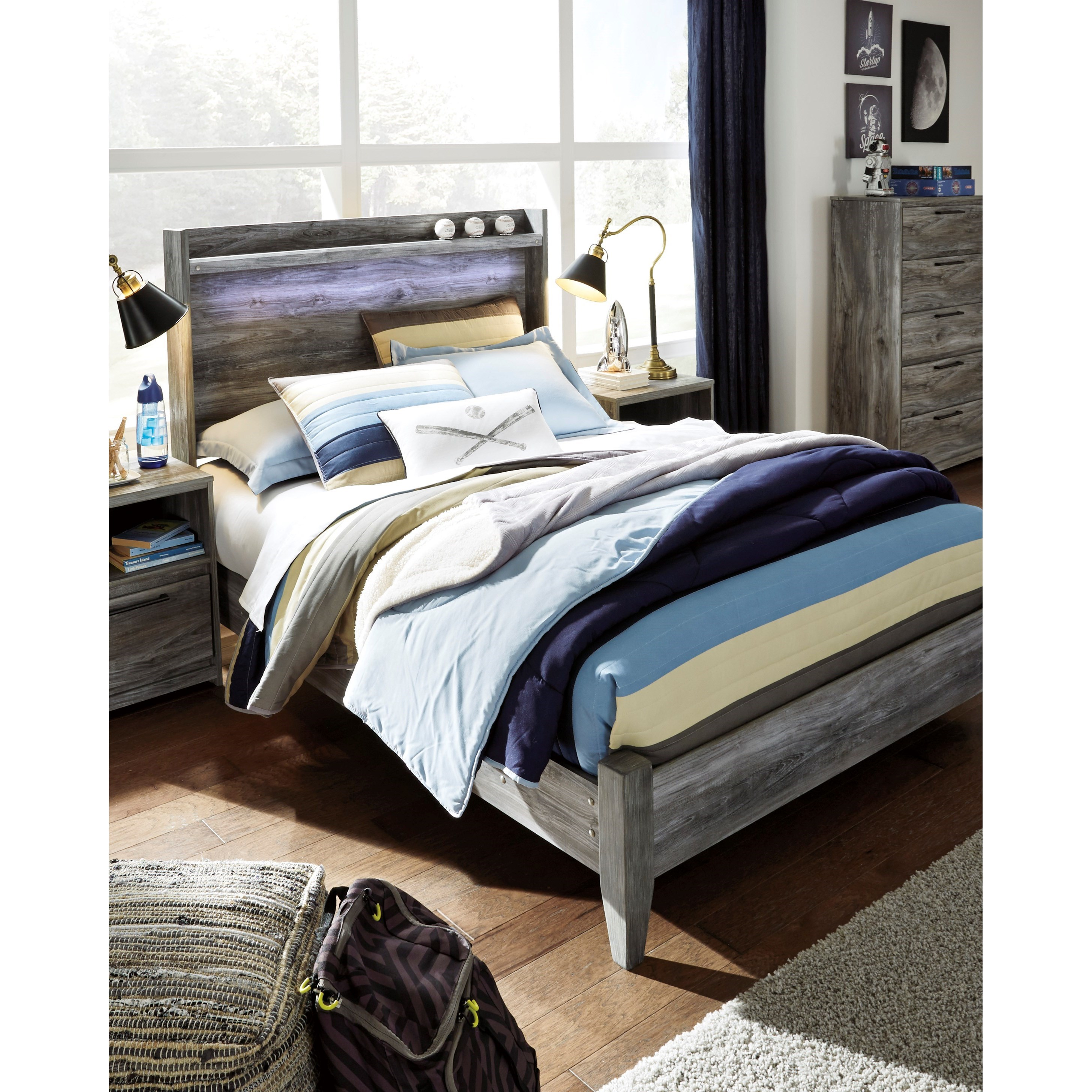 Baystorm Full Size Storage Bed B221: Signature Design By Ashley Baystorm Full Panel Bed With