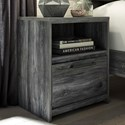 Signature Design by Ashley Baystorm Contemporary 1 Drawer Night Stand with USB Charger