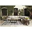 Signature Design by Ashley Beachcroft 7 PC Outdoor Conversation Set - Item Number: 775279106