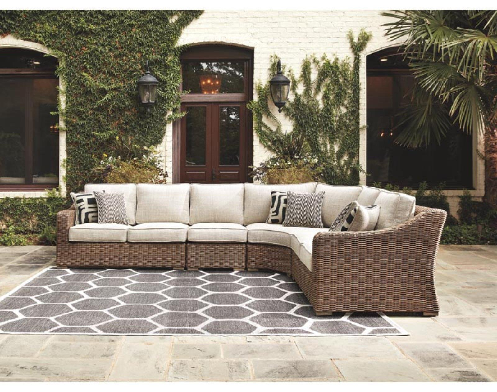 Beachcroft Outdoor Patio Sectional Sofa by Ashley (Signature Design) at Johnny Janosik