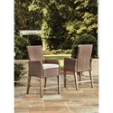 Signature Design by Ashley Beachcroft Outdoor Barstool with Cushion