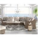 Signature Design by Ashley Beachcroft 3 Piece Resin Wicker Sectional Set - Item Number: P791-3PC