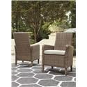 Signature Design by Ashley Beachcroft Set of 2 Arm Chairs with Cushion - Item Number: P791-601A