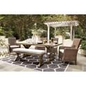 Signature Beachcroft 6 Piece Outdoor Dining Set - Item Number: P791-625+2x601A-C+2x601-C+600