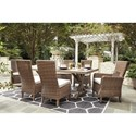 Signature Design by Ashley Beachcroft 7 Piece Outdoor Dining Set
