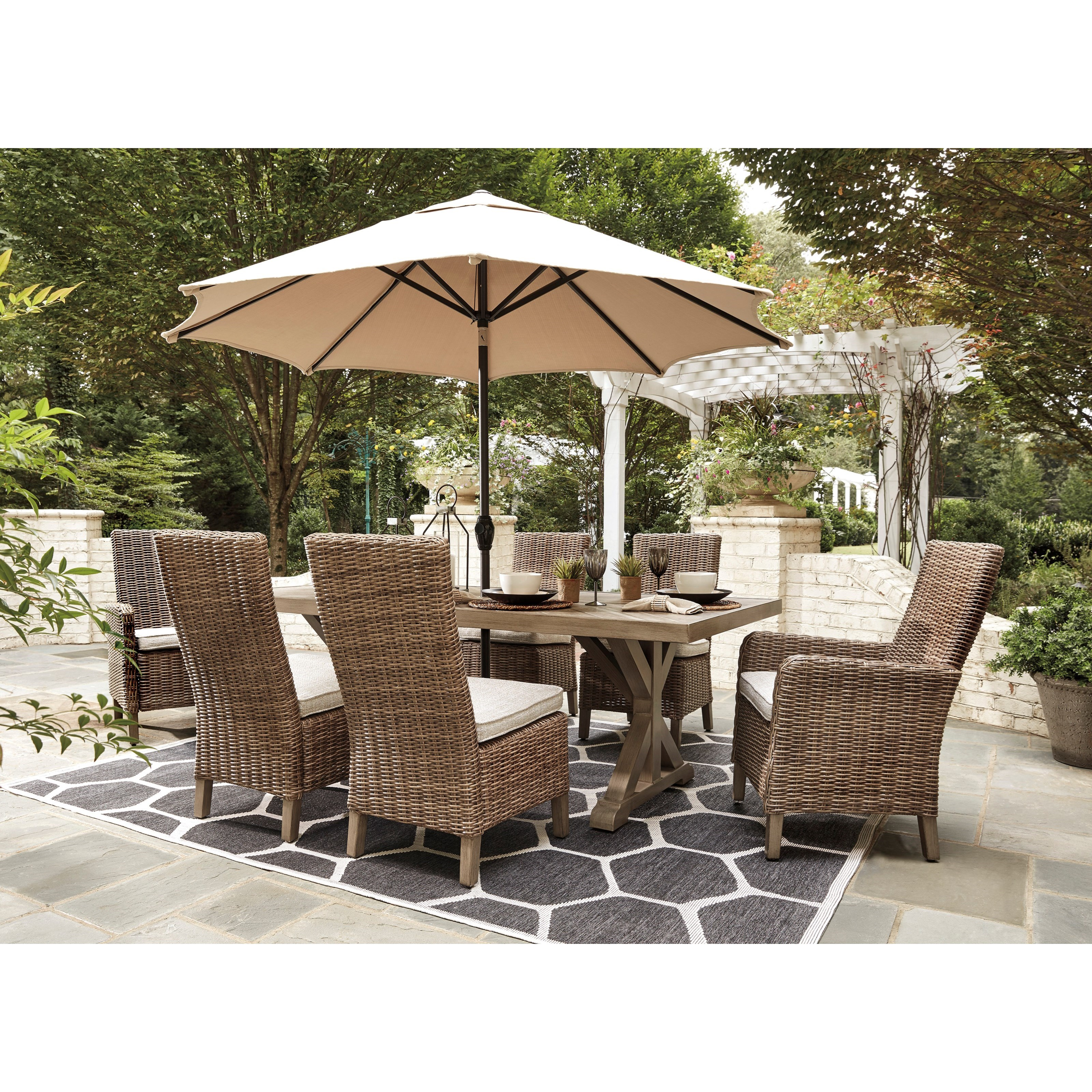 Signature Design By Ashley Furniture Hayley 7 Piece Dining: Signature Design By Ashley Beachcroft 7 Piece Outdoor