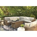 Signature Design by Ashley Beachcroft Rectangular Fire Pit Table
