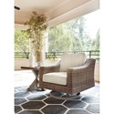 Signature Design by Ashley Beachcroft Swivel Lounge Chair with Cushion