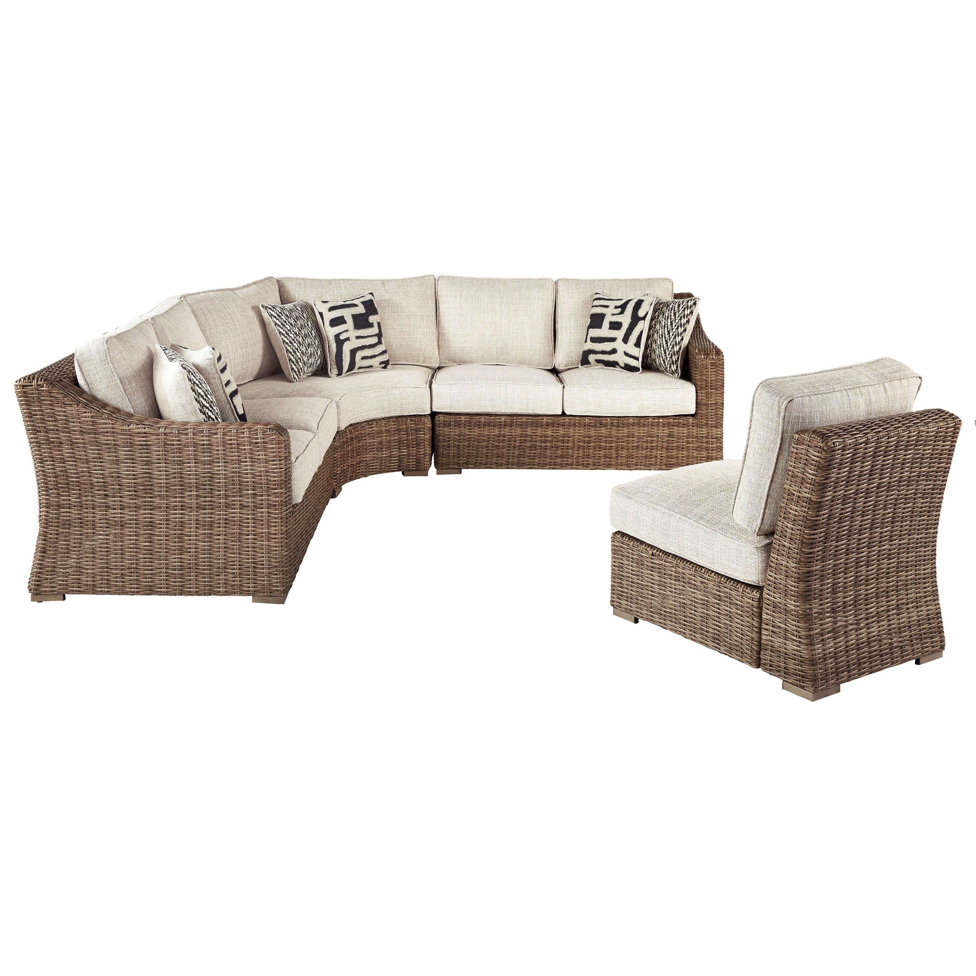 Levitz Furniture Store Locations: Signature Design By Ashley Beachcroft 4 Piece Resin Wicker