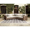 Signature Design by Ashley Beachcroft 3 Piece Resin Wicker Sectional Set
