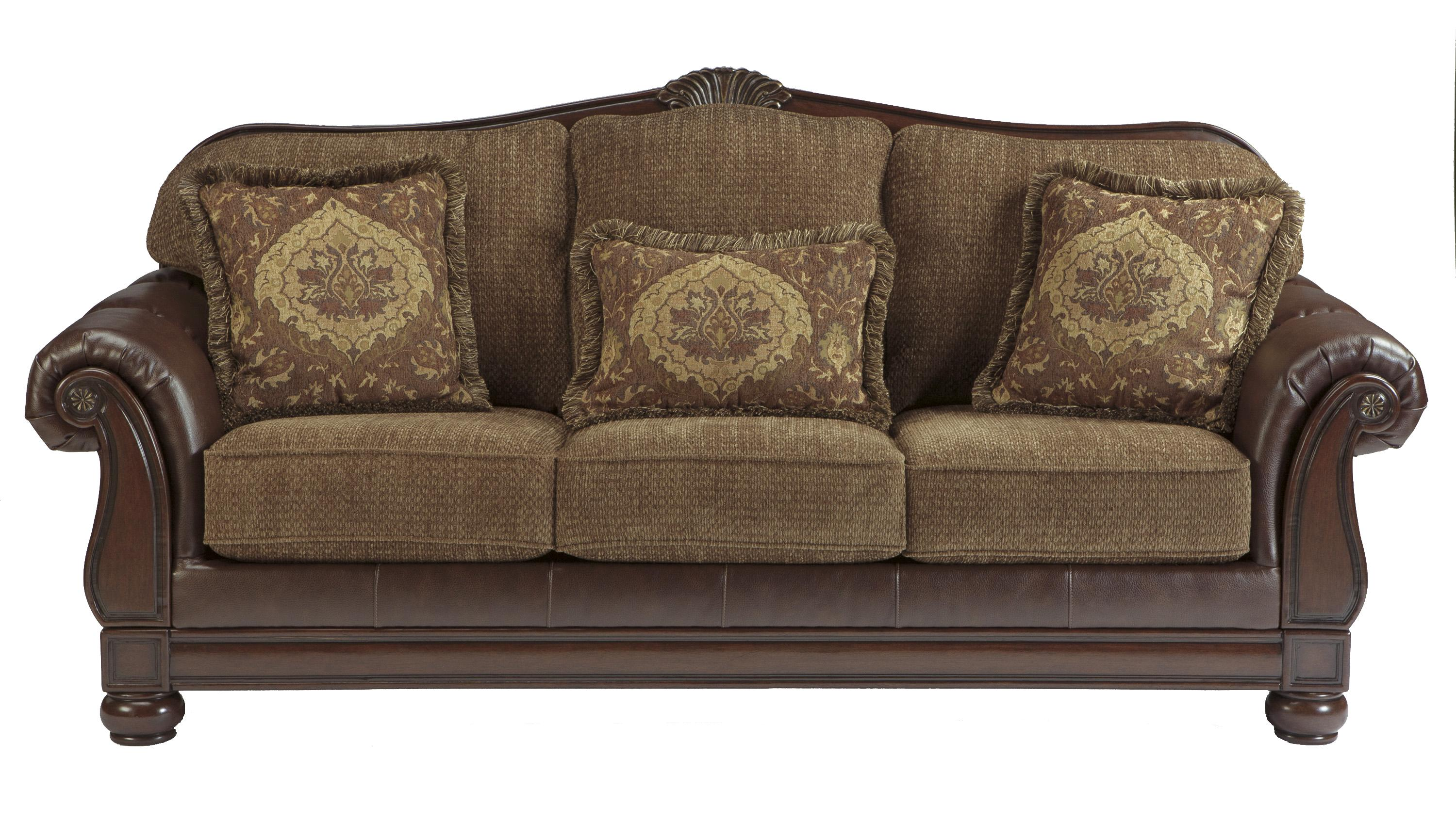 Signature Design By Ashley Beamerton Heights Chestnut Tradtional Roll Arm Sofa Ahfa Dealer Locator