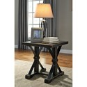 Signature Design by Ashley Beckendorf Rustic Farmhouse Style Square End Table