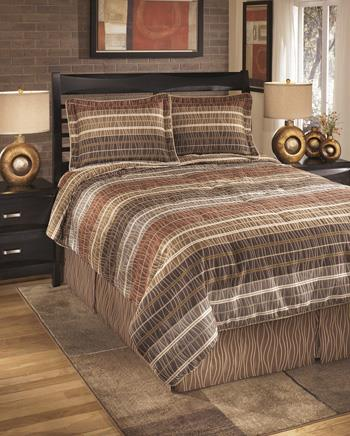 Signature Design by Ashley Bedding Sets King Wavelength Jewel Top of Bed Set - Item Number: Q033004K