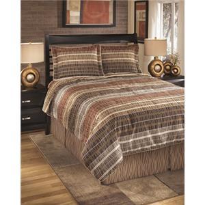 StyleLine Bedding Sets Queen Wavelength Jewel Top of Bed Set