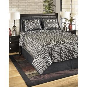 StyleLine Bedding Sets Queen Maze Onyx Top of Bed Set