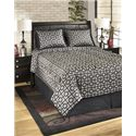 Signature Design by Ashley Bedding Sets Queen Maze Onyx Top of Bed Set - Item Number: Q107004Q