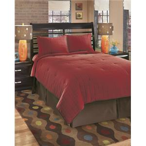 Signature Design by Ashley Bedding Sets Queen Interlude Brick Top of Bed Set