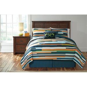 StyleLine Bedding Sets Full Seventy Stripe Top of Bed Set