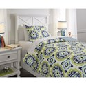Signature Design by Ashley Bedding Sets Full Danesha Blue/Green Coverlet Set