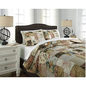 Signature Design by Ashley Bedding Sets Queen Damalis 3-Piece Quilt Set