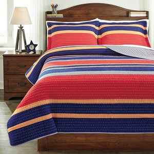 Signature Design by Ashley Bedding Sets Full Damond Multi Quilt Set
