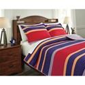 Signature Design by Ashley Bedding Sets Full Damond Multi Quilt Set