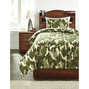 Signature Design by Ashley Bedding Sets Twin Dagon Camouflage Comforter Set