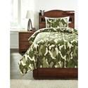 Ashley (Signature Design) Bedding Sets Twin Dagon Camouflage Comforter Set  - Item Number: Q234001T