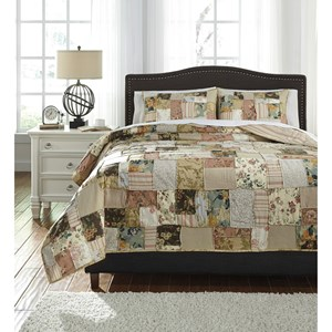 Signature Design by Ashley Bedding Sets Queen Damalis Quilt Set
