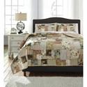 Ashley (Signature Design) Bedding Sets King Damalis Quilt Set - Item Number: Q238003K